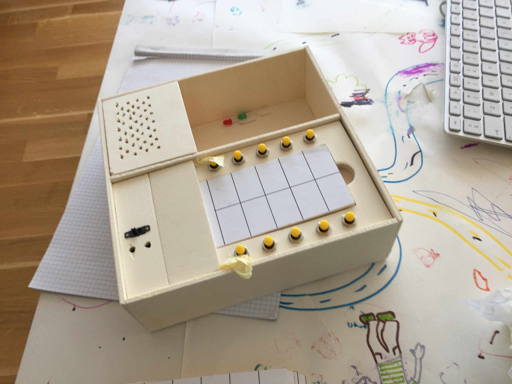 The first version with punch card interface