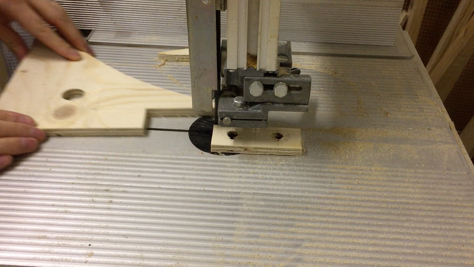 Cutting the frame holders from the stock