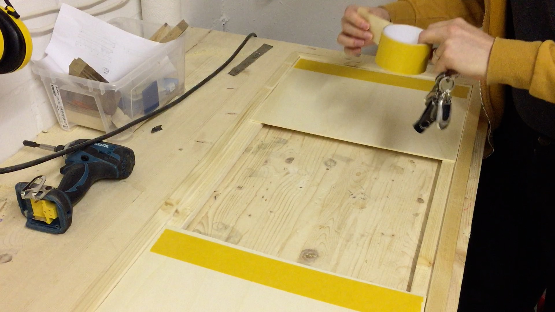 Adding the double sided tape