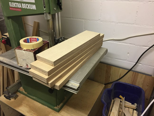 Plywood boards for the project